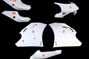 Ducati, 748-916-996-998 Kompletní sada 5-dílná Racing, GFK