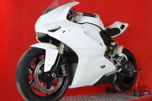 Ukázka dílů Motoforza Ducati 1299 na motocyklu
