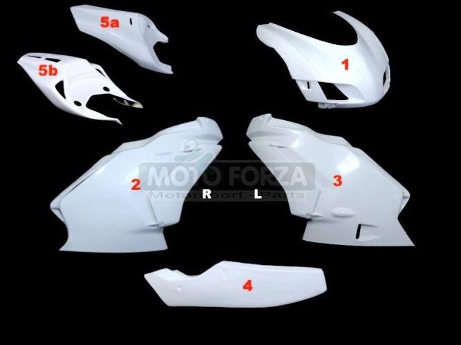 Ducati 749,999 2005-2006 Kompletní sada 5-dílná racing GFK