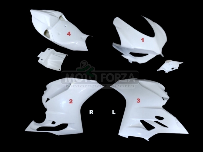 Ducati 899 1199 Kompletní sada 4-dílná Racing 1199, GFK