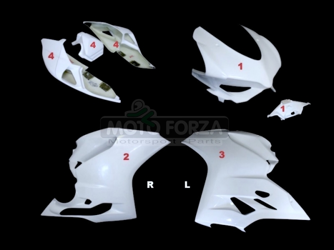 Ducati 899 1199 Kompletní sada 4-dílná racing - OP 899,1199, GFK