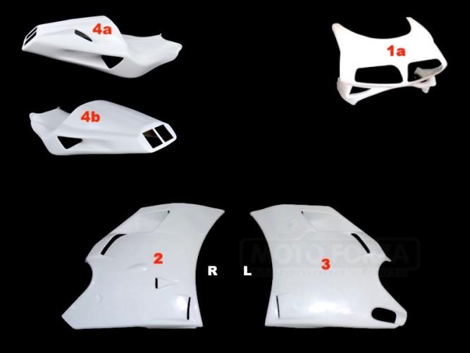 Ducati 748-916-996 Kompletní sada 4-dílná Strada - Cestovní, GFK