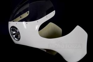 Kapotáž GFK - SET, Předchystané plexi (navrtané, ořízlé) , šrouby na plexi, Honda 750 - instalovaé světlo 5 3/4 palce