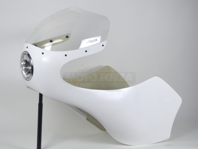 Kapotáž GFK - SET, Předchystané plexi (navrtané, ořízlé) , šrouby na plexi, Honda 250-500 - instalovaé světlo 5 3/4 palce