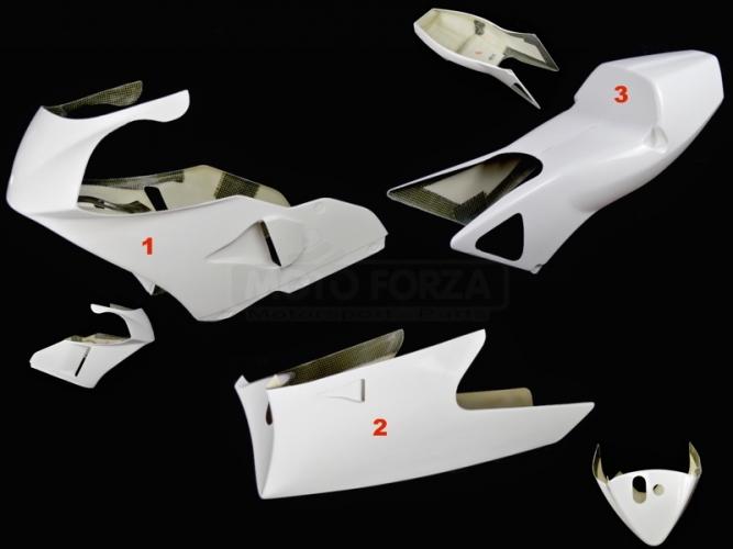 Honda RS 250 94-97  Kompletní sada 3-dílná racing GFK