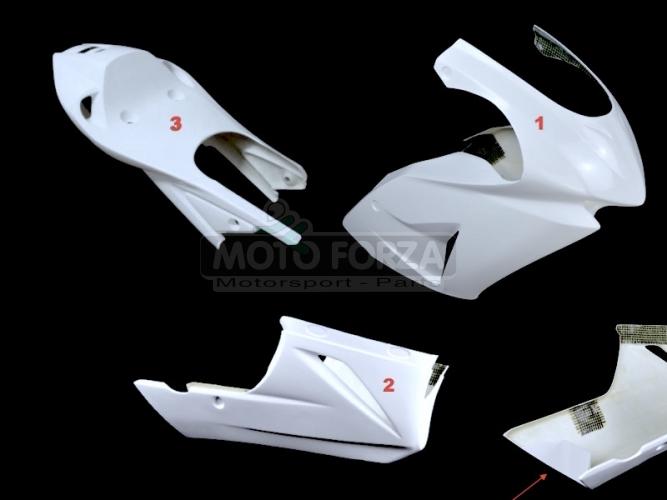 Honda NSF 100 2005-2018 Kompletní sada 3-dílná Racing, GFK