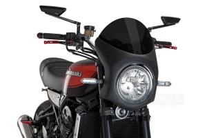 UNI Polokapotáž CAFE RACER RETRO - SET Kawasaki Z900RS 2018-2020 - tmavě kouřové plexi