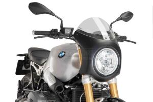 UNI Polokapotáž CAFE RACER RETRO - SET - BMW R NINE T 2014-2020 - čiré plexi