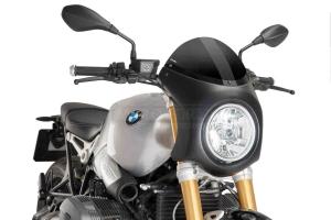 UNI Polokapotáž CAFE RACER RETRO - SET - BMW R NINE T 2014-2020 tmavě kouřové Plexi