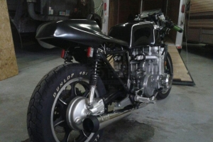 Part on bike on Kawasaki KZ1300 1980