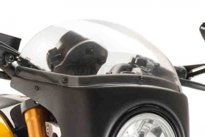 UNI Polokapotáž CAFE RACER RETRO - SET -Royal Enfield 650 Interceptor 2018-2020 - čiré plexi