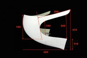 UNI Polokapotáž 50-350 - SET - rozměry
