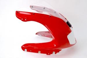UNI plexi verze 5 - dvojí bublina - ukázka na vrchním díle Ducati 900SS 1998-