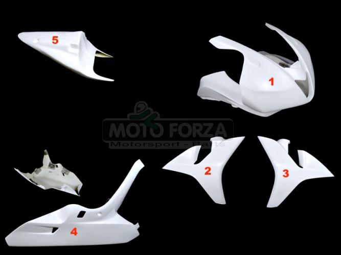 Honda CBR 600RR 2007-2008 Kompletní sada 5-dílná racing OP, GFK