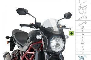 UNI Polokapotáž CAFE RACER RETRO - SET Suzuki SV 650N 2016-2020