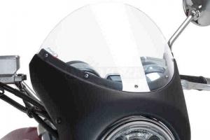 UNI Polokapotáž CAFE RACER RETRO - SET - Triumph Street Twin 2016-2020 -  čiré plexi