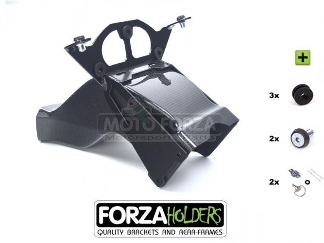 Držák otáčkoměru Racing s CARBON náfukem racing SBK - SET Yamaha YZF R1 2020-